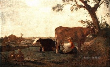 Maid Works - The Dairy Maid countryside painter Aelbert Cuyp