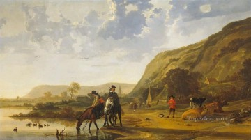 River countryside painter Aelbert Cuyp Oil Paintings