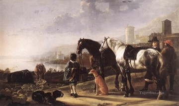 Aelbert Cuyp Painting - The Negro Page countryside painter Aelbert Cuyp
