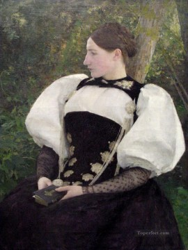 Pascal Dagnan Bouveret Painting - A Woman from Bern Switzerland Pascal Dagnan Bouveret