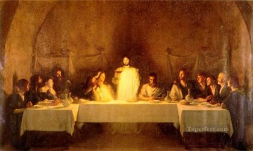 last supper Painting - The Last Supper Pascal Dagnan Bouveret