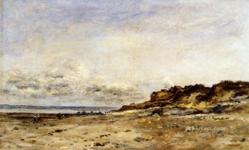 Daubigny Art - Low Tide At Villerville Barbizon Charles Francois Daubigny