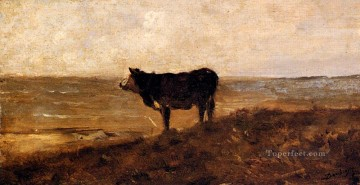 Daubigny Art - The Lone Cow Barbizon Charles Francois Daubigny