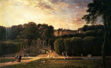 Daubigny Art - Fracois The Park At St Cloud Barbizon Charles Francois Daubigny