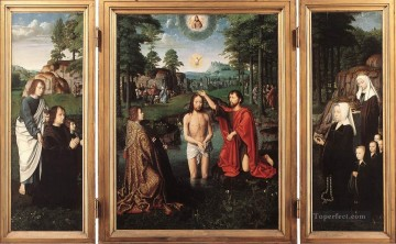 David Gerard Painting - Triptych of Jan Des Trompes Gerard David