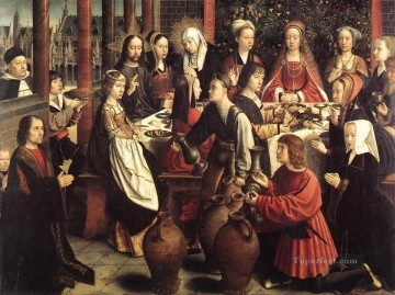 David Gerard Painting - the marriage at cana1wga Gerard David