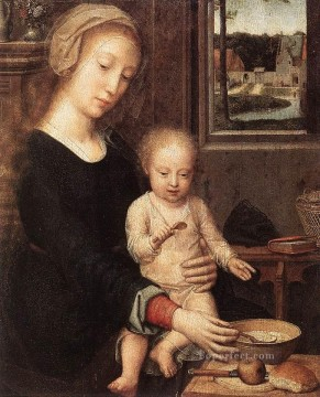 David Gerard Painting - The Madonna of the Milk Soup wga Gerard David