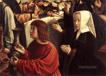 David Gerard Painting - the marriage at cana4wga Gerard David