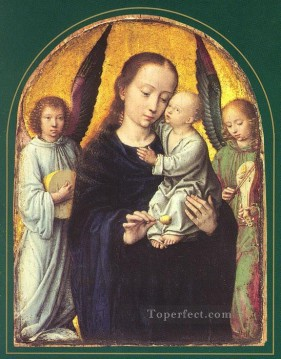 Angels Works - Mary and Child with two Angels Making Music Gerard David