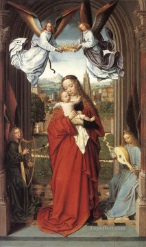 Angels Works - virgin and child with four angels wga Gerard David
