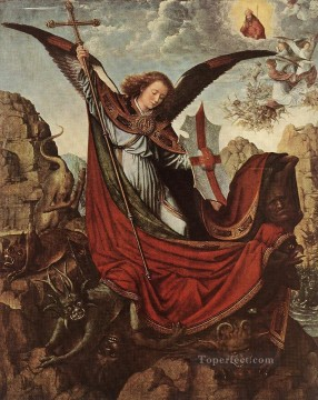 Altarpiece Painting - Altarpiece of St Michael Gerard David