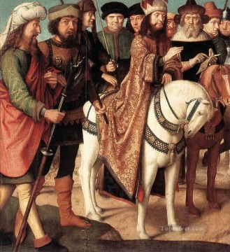 David Gerard Painting - Pilates Dispute with the High Priest Gerard David