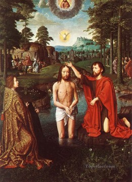 David Gerard Painting - triptych of jean des trompes1wga Gerard David