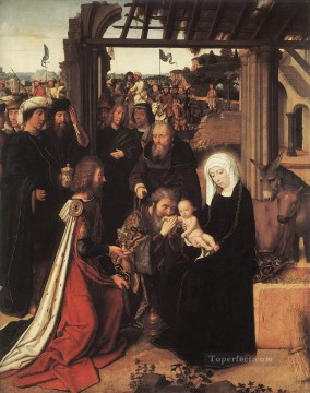 Adoration Art - Adoration of the Magi 1500 Gerard David