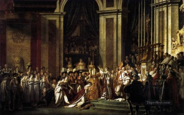 Consecration of the Emperor Napoleon I and Coronation of the Empress Josephin Neoclassicism Jacques Louis David Oil Paintings