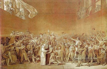 The Oath of the Tennis Court Neoclassicism Jacques Louis David Oil Paintings