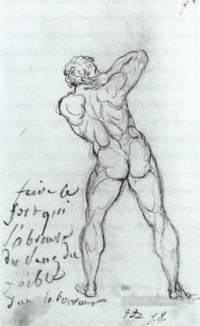 Lang Art - Study after Michelangelo Neoclassicism Jacques Louis David