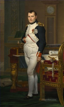 Napoleon in his Study Neoclassicism Jacques Louis David Oil Paintings