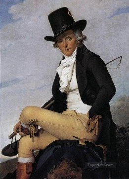 Pierre Works - Portrait of Pierre Seriziat Neoclassicism Jacques Louis David