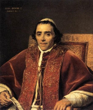 classicism Painting - Portrait of Pope Pius VII Neoclassicism Jacques Louis David