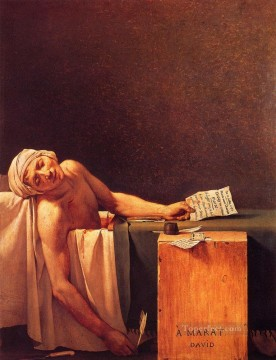 The Death Of Marat Neoclassicism Jacques Louis David Oil Paintings