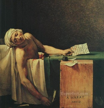 The Death of Marat cgf Neoclassicism Jacques Louis David Oil Paintings