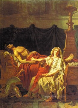 Andromache Mourning Hector cgf Neoclassicism Jacques Louis David Oil Paintings