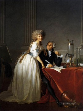 Portrait of Antoine Laurent and Marie Anne Lavoisier Neoclassicism Jacques Louis David Oil Paintings