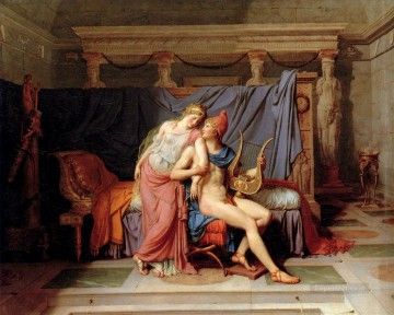 The Courtship of Paris and Helen Jacques Louis David Oil Paintings