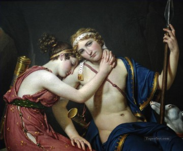 The Farewell of Telemachus and Eucharis Jacques Louis David Oil Paintings