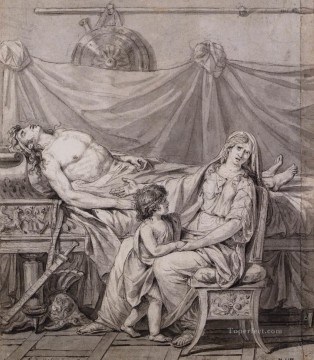 classicism Painting - The Grief of Andromache Neoclassicism Jacques Louis David