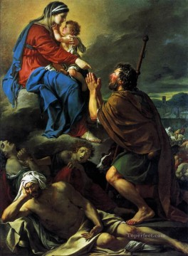 Virgin Painting - St Roch Asking the Virgin Mary to Heal Victims of the Plague Neoclassicism Jacques Louis David
