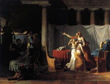 The Lictors Returning to Brutus the Bodies of his Sons Neoclassicism Jacques Louis David Oil Paintings