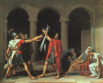 The Oath of the Horatii cgf Neoclassicism Jacques Louis David Oil Paintings