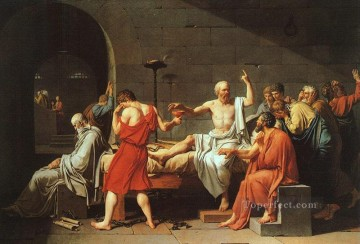 The Death of Socrates cgf Neoclassicism Jacques Louis David Oil Paintings