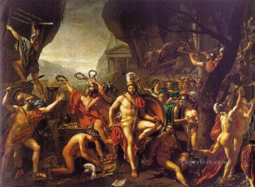 neoclassical neoclassicism Painting - Leonidas at Thermopylae Neoclassicism Jacques Louis David