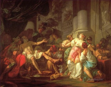 The Death of Seneca Neoclassicism Jacques Louis David Oil Paintings