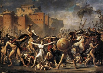 The Intervention of the Sabine Women Neoclassicism Jacques Louis David Oil Paintings