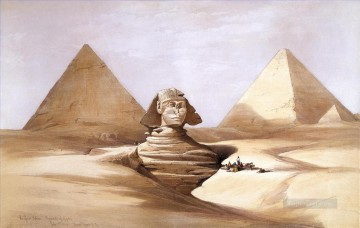 David Roberts R A Painting - The Great Sphinx Pyramids of Gizeh David Roberts