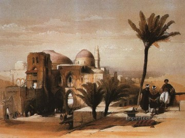 David Roberts R A Painting - the mosque of omar David Roberts