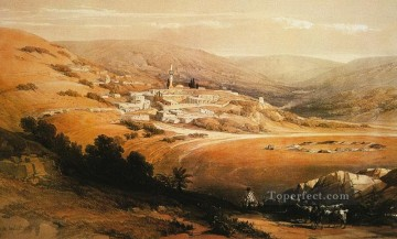 David Roberts R A Painting - view of nazareth David Roberts