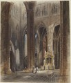 Interior of Amiens Cathedral David Roberts