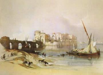 David Roberts R A Painting - view of sidon David Roberts