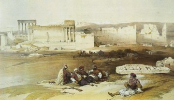 David Roberts R A Painting - baalbek general view David Roberts