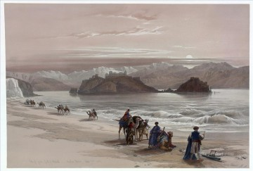 David Roberts R A Painting - Isle of Graia Gulf of Akabah Arabia Petraea David Roberts