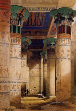 David Roberts R A Painting - portico of the temple of isis at philae 1851 David Roberts