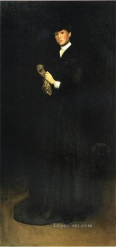 black Art - Arrangement in Black No 8Portrait of Mrs Cassatt Tonalism painter Joseph DeCamp
