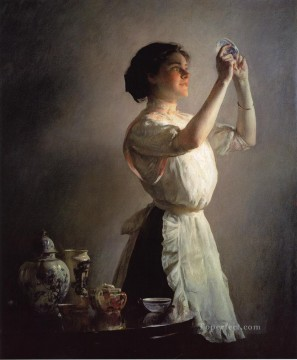 The Blue Cup Tonalism painter Joseph DeCamp Oil Paintings