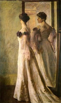 tonalism tonalist Painting - The Heliotrope Gown Tonalism painter Joseph DeCamp