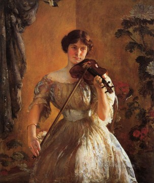 KR Works - The Kreutzer Sonata aka Violinist II Tonalism painter Joseph DeCamp